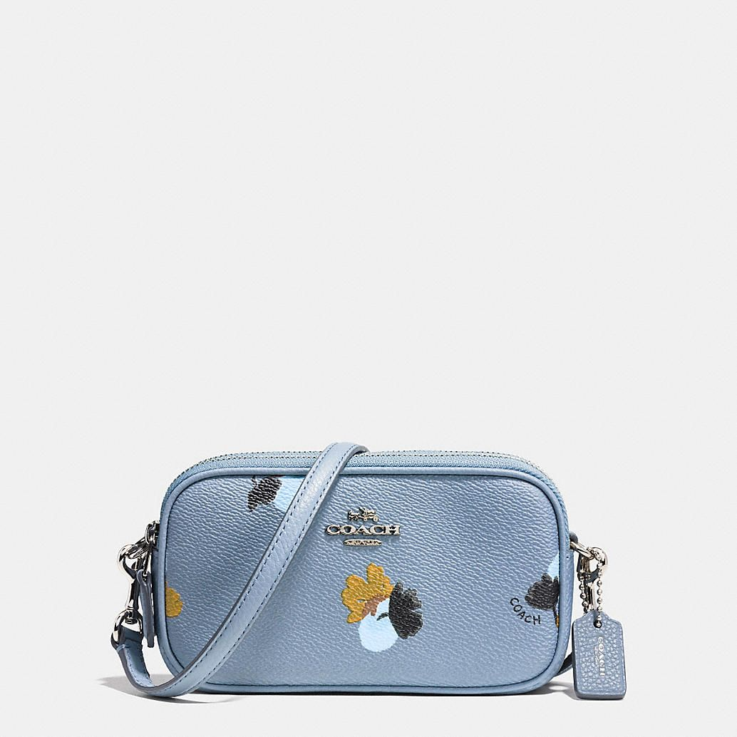 san francisco fresh styles variety styles of 2019 Crossbody Pouch in Floral Print Coated Canvas COACH BAG ...