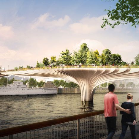 Thomas Heatherwick Reveals Garden Bridge Designed For River Thames Garden Bridge London Garden Bridge Design Garden Bridge Project
