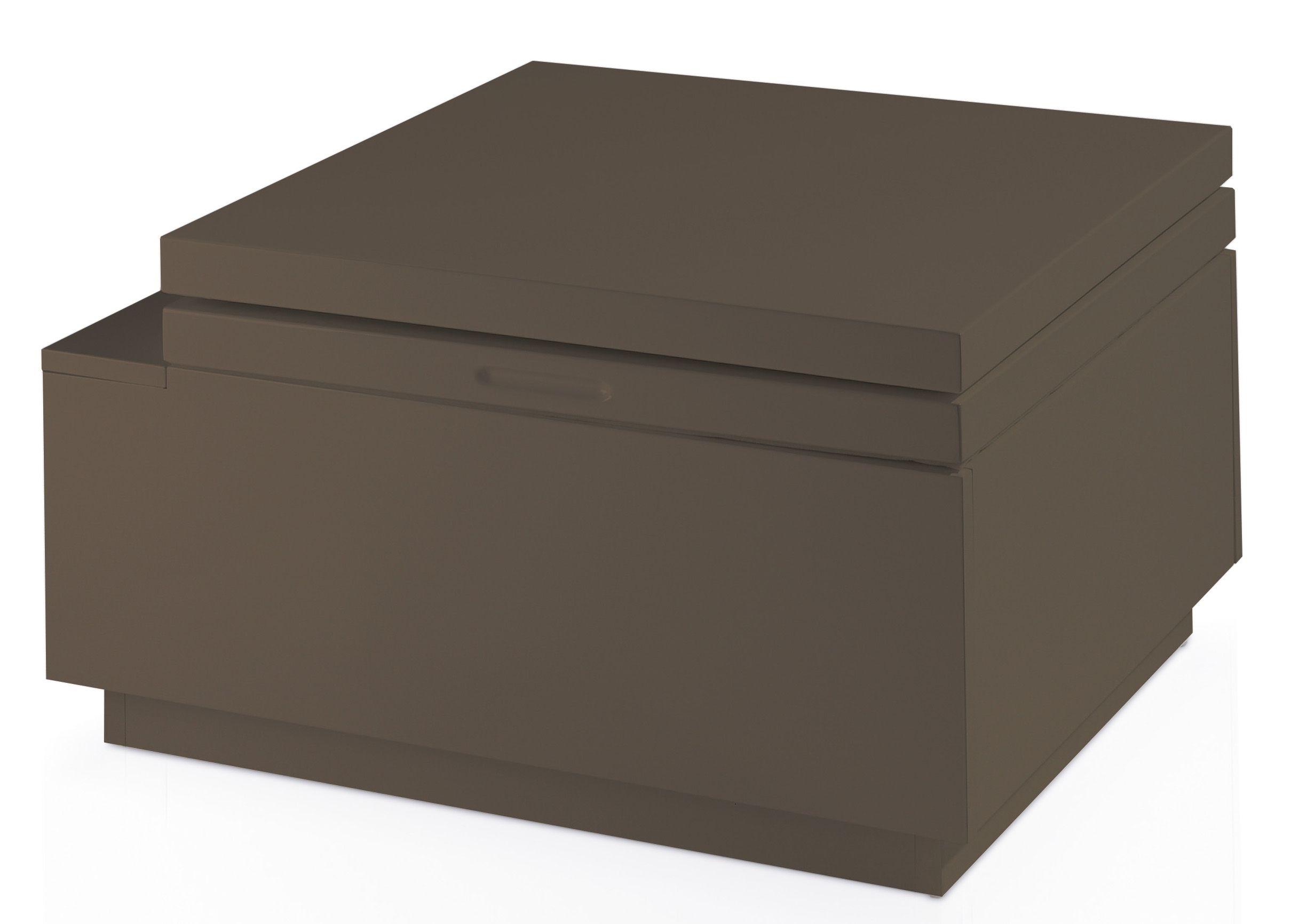 Designer Table Basse Relevable Laquee Marron Kuba Lestendances Fr En 2020 Table Basse Relevable Table Basse Table Basse Moderne