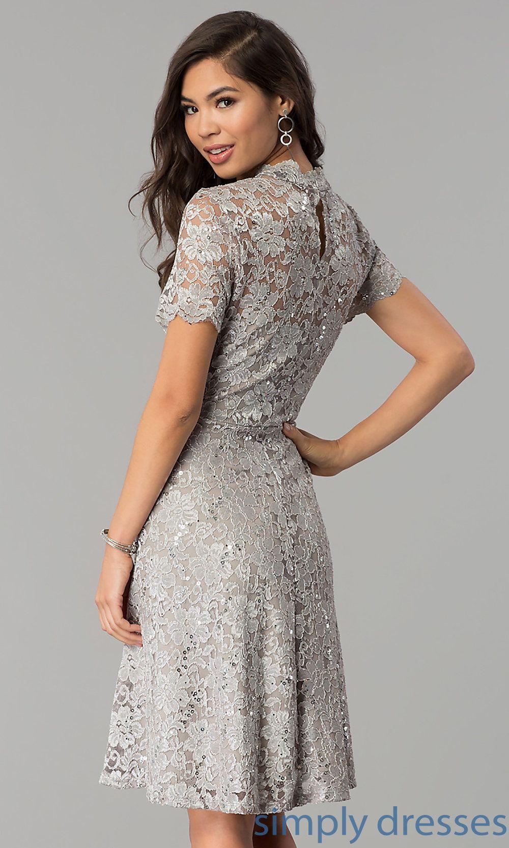A Line High Neck Lace Wedding Guest Dress By Onyx Wedding Guest Dress Guest Dresses Lace Wedding Guest Dress [ 1666 x 1000 Pixel ]
