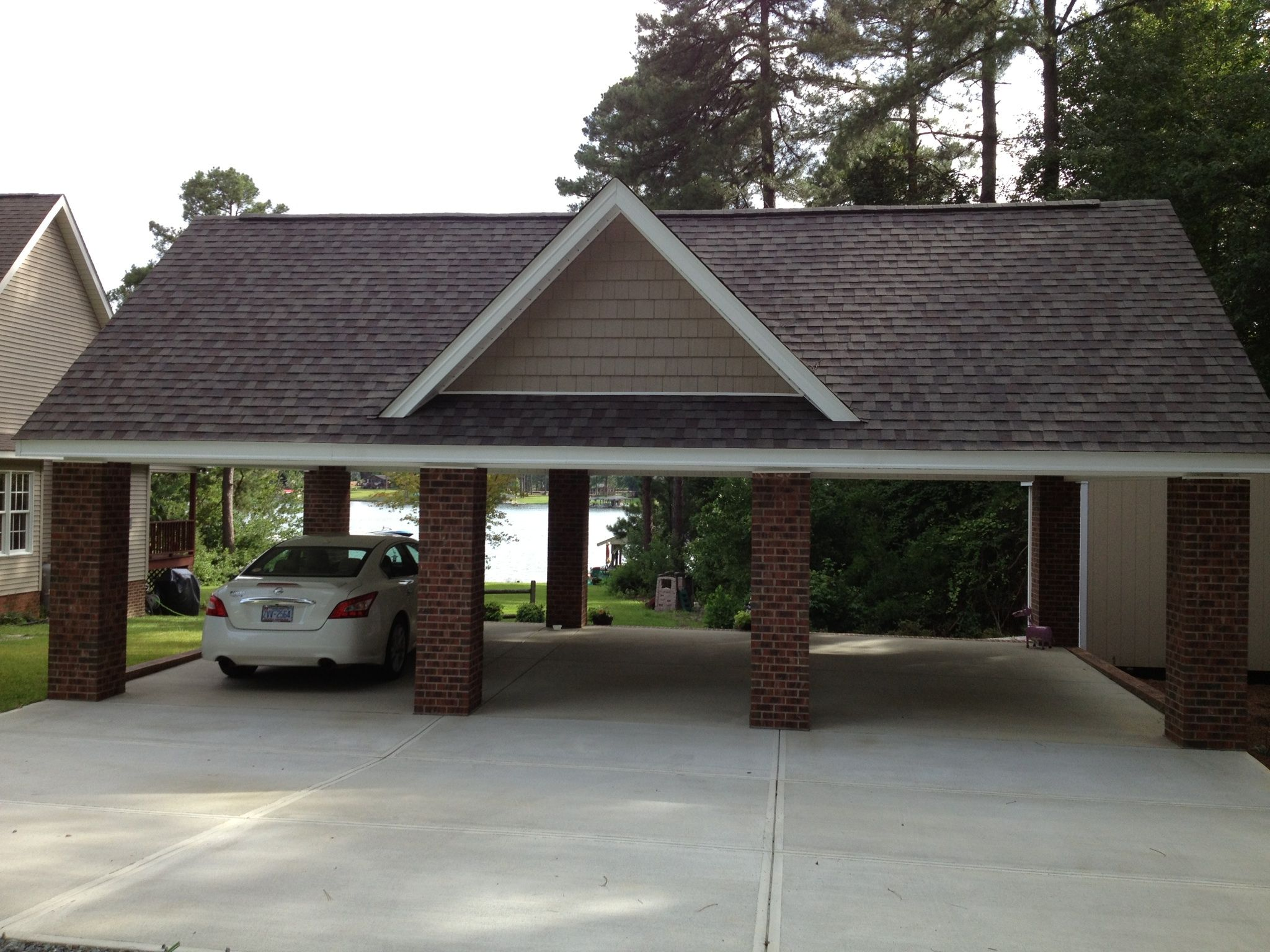 After Months Of Decisions And Changes We Came Up With A Design Thanks To Del Builders I Have My Perfect Carport Diy Carport Building A Carport Carport Designs