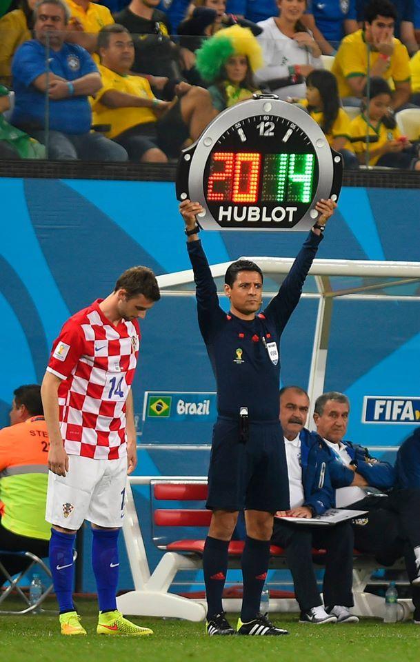 Hublot en la Copa del Mundo FIFA Brasil 2014. Brasil-Croacia.