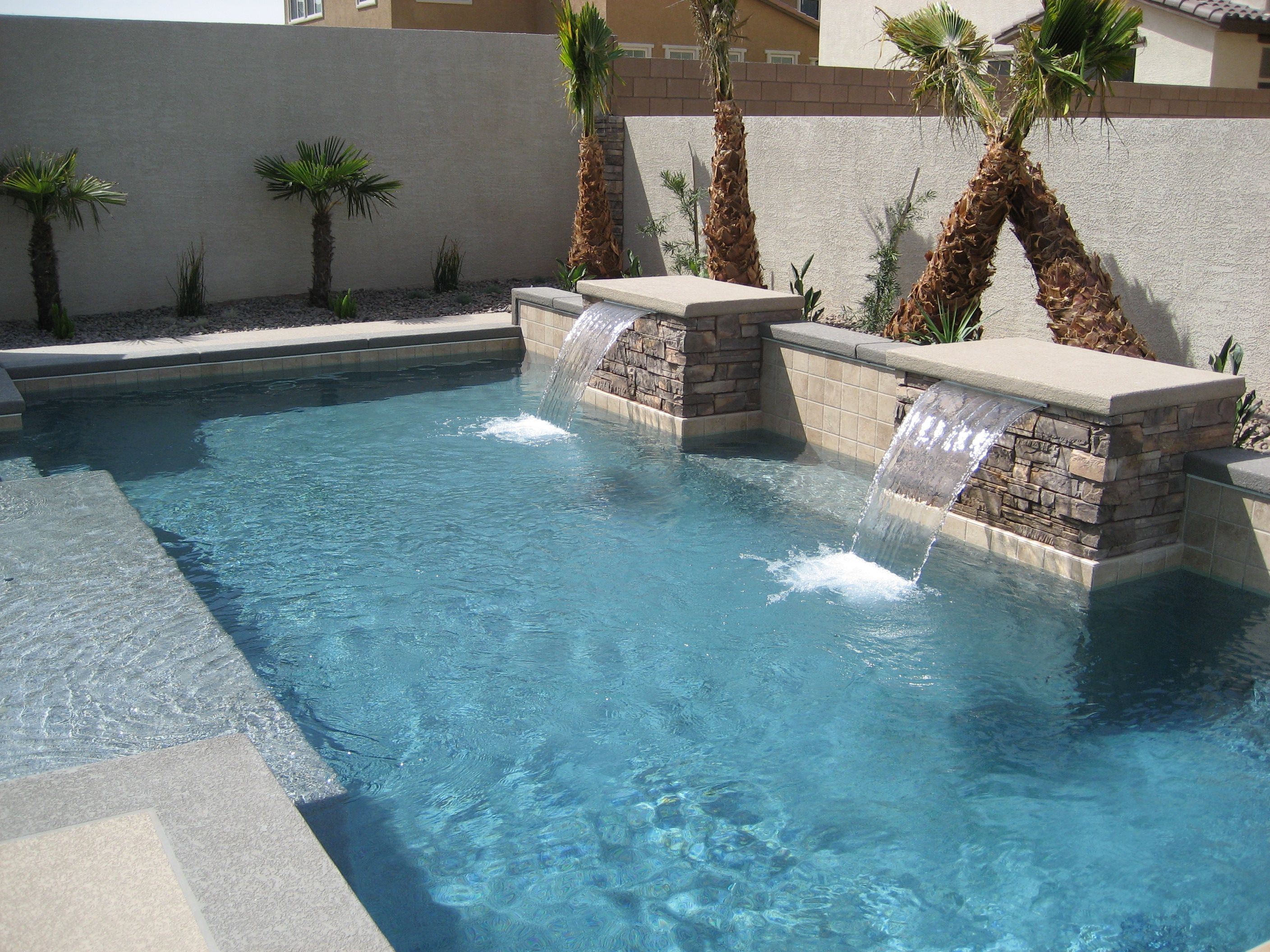 Pin By Artistic Pool Spa Inc On Water Features Small Backyard