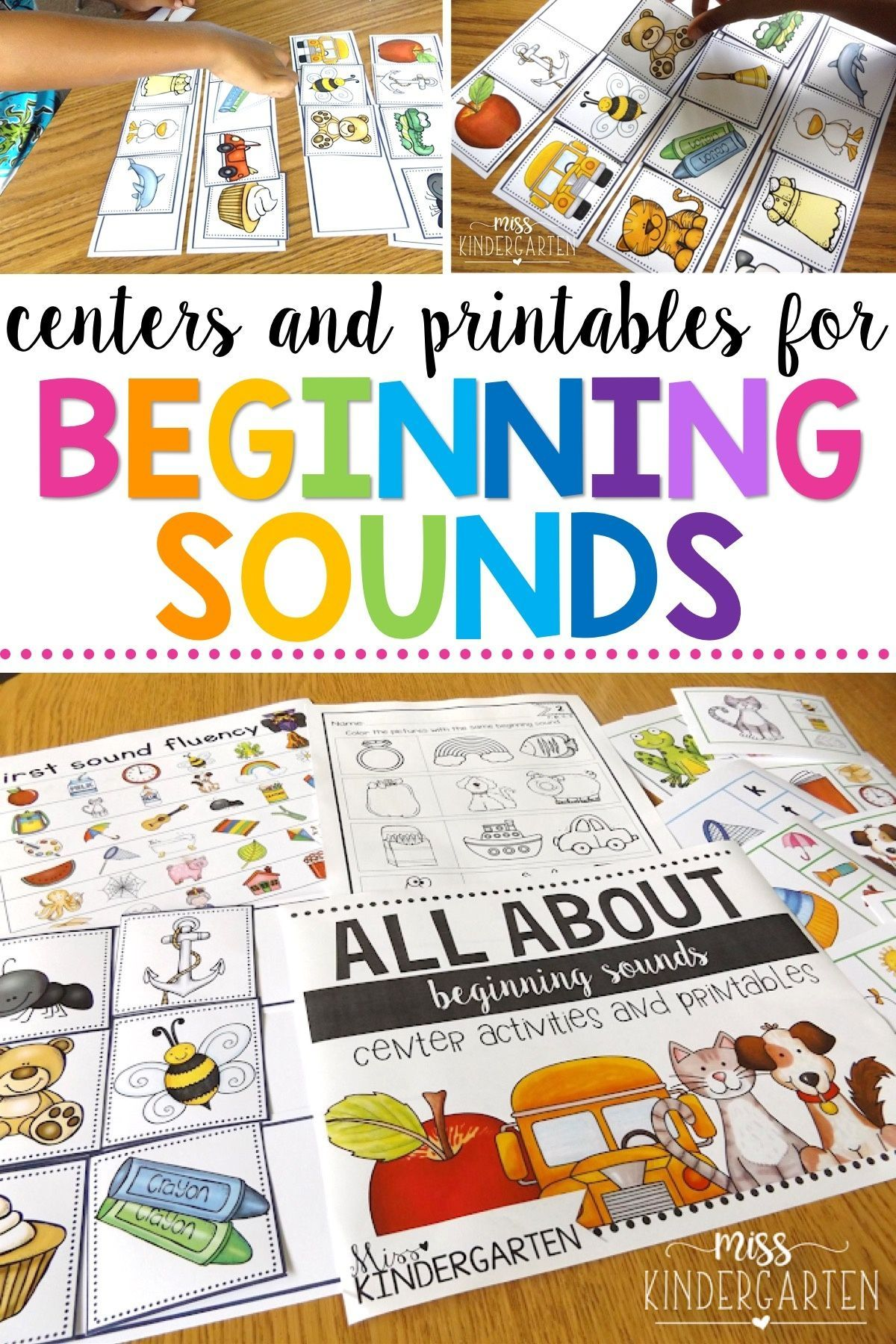 All About Beginning Sounds Center Activities And