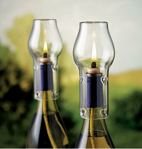 Flasche Kronleuchter · Lovin This Website! Oodles Of Nifty Ness! Wine  Bottle Oil Lamp Kit