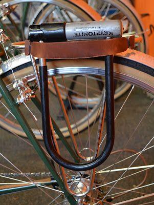 Leather U Lock Holder Via The Velo Orange Blog Bag Straps