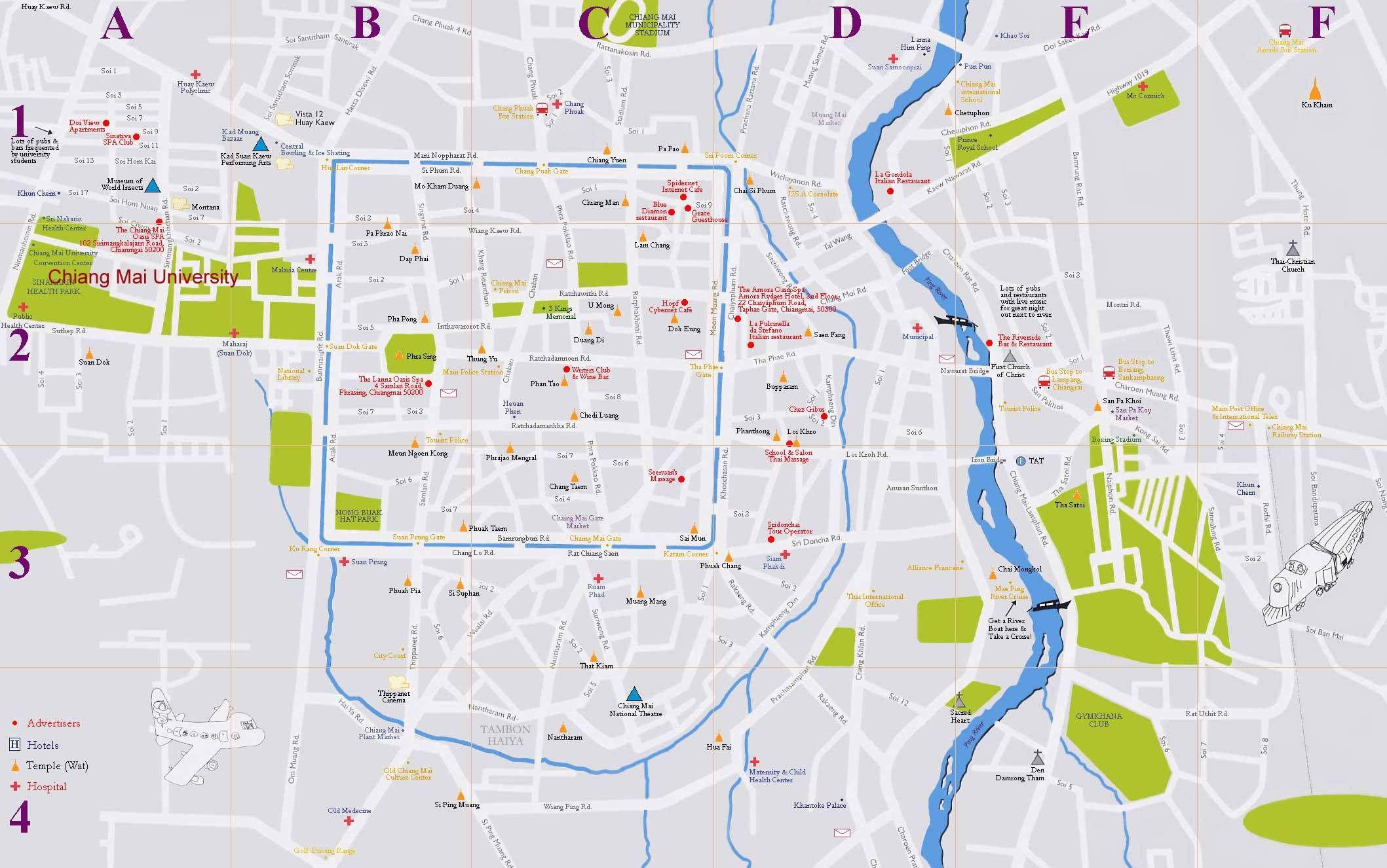 Mapa De Chiang Mai.Pin De Wendy Kwok En Maps Tailandia Y Mapas