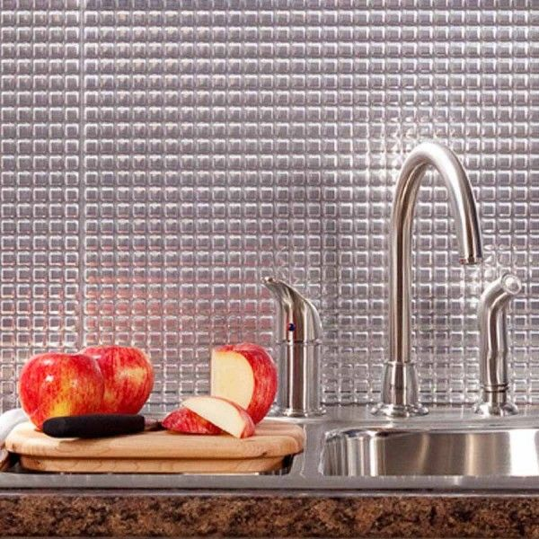 Awe Inspiring Fasade Backsplash Square In Brushed Aluminum Kitchen Download Free Architecture Designs Salvmadebymaigaardcom