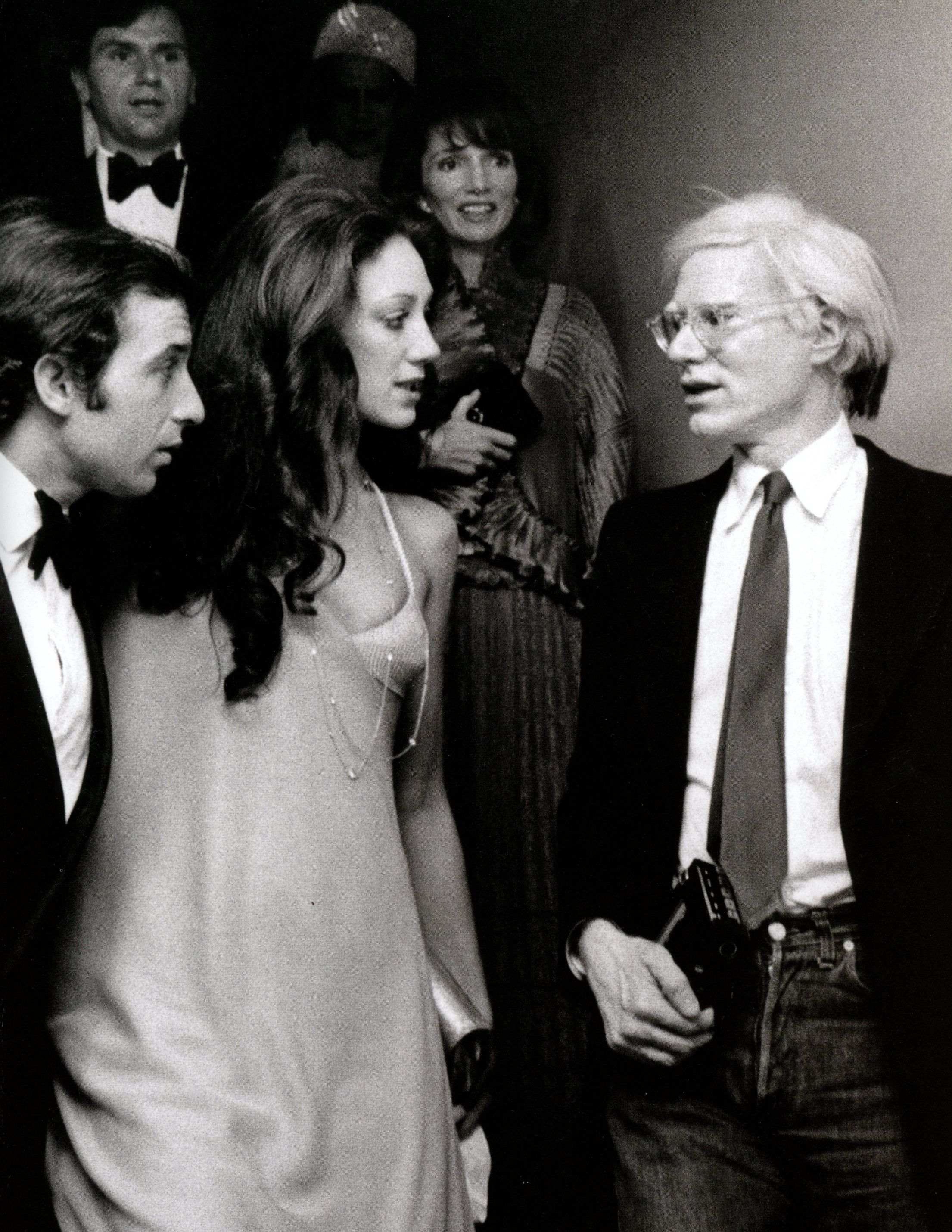 RICKY VON OPEL, MARISA BERENSON & ANDY WARHOL-NEW YORK-1975