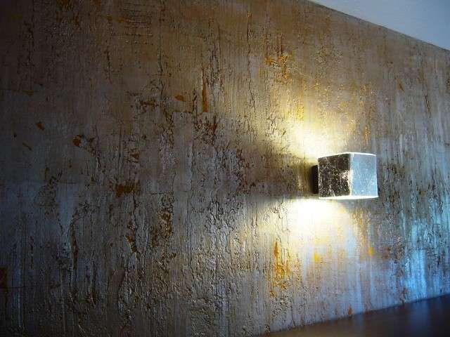 Pareti Doro : Decorare le pareti con la foglia d oro luce ed eleganza in ogni