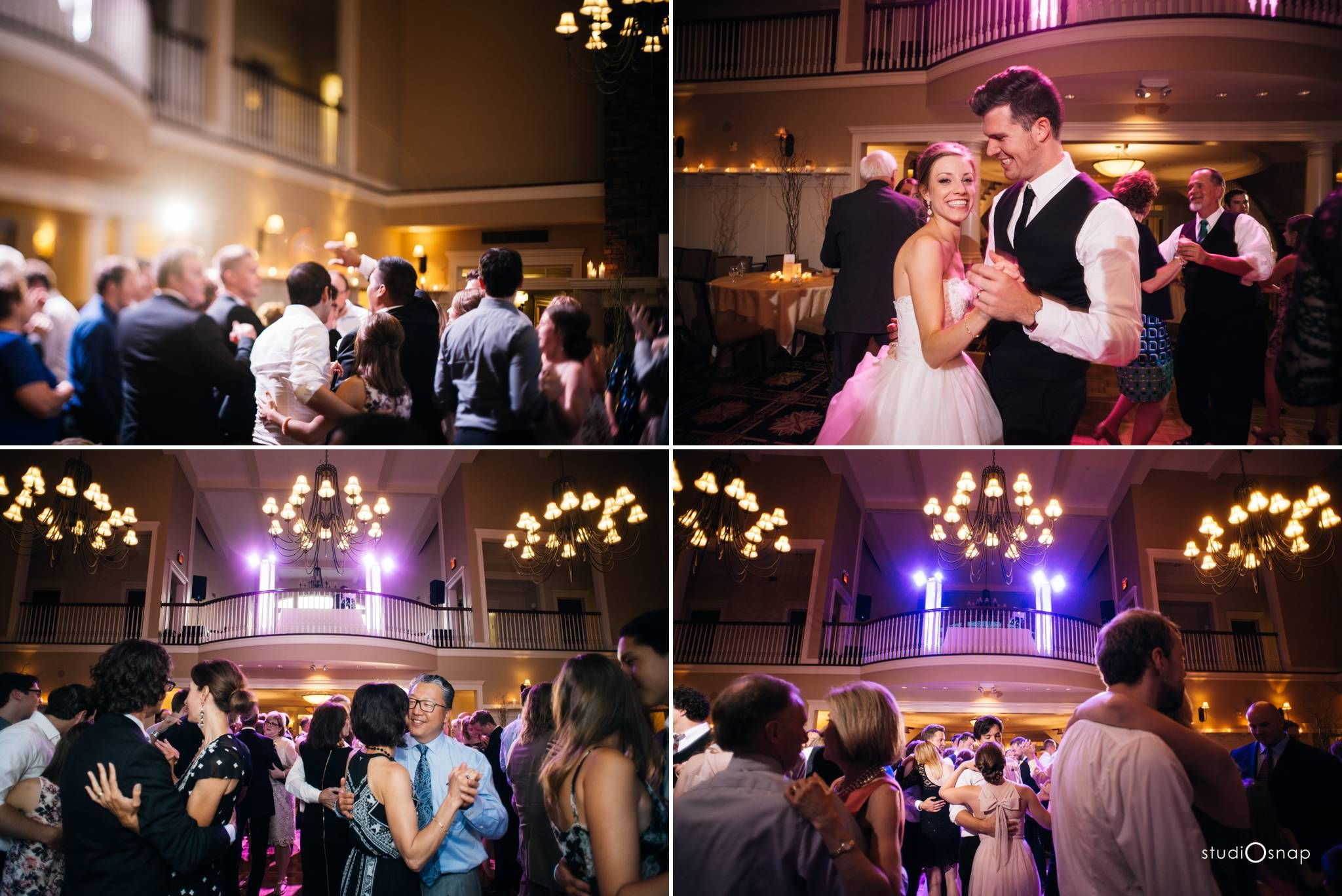 Dance floor oakhurst country club wedding studiosnap photography