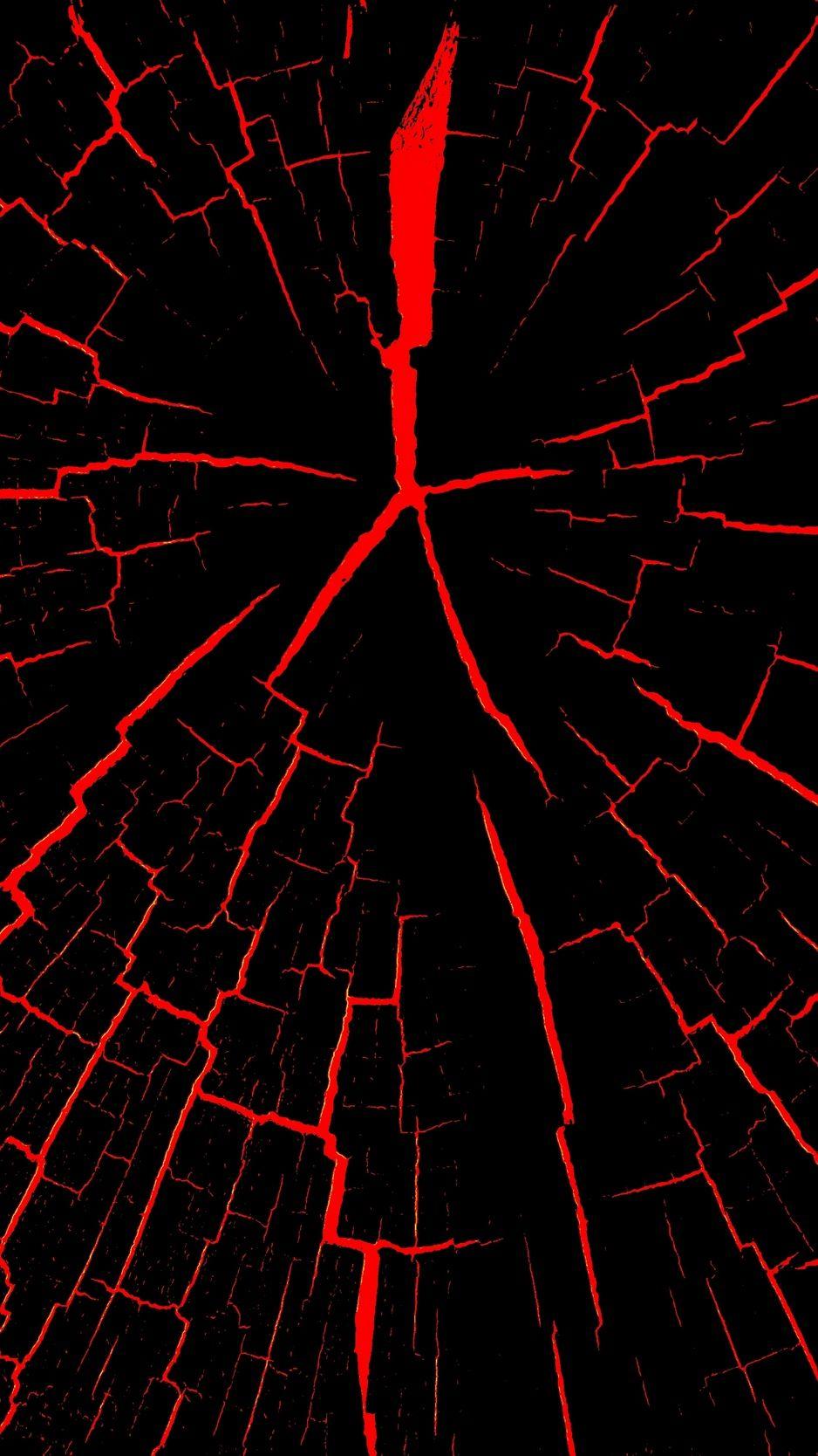 Cracks Red Black Wallpaper Background Iphone Red And Black Wallpaper Cracked Wallpaper Black Wallpaper