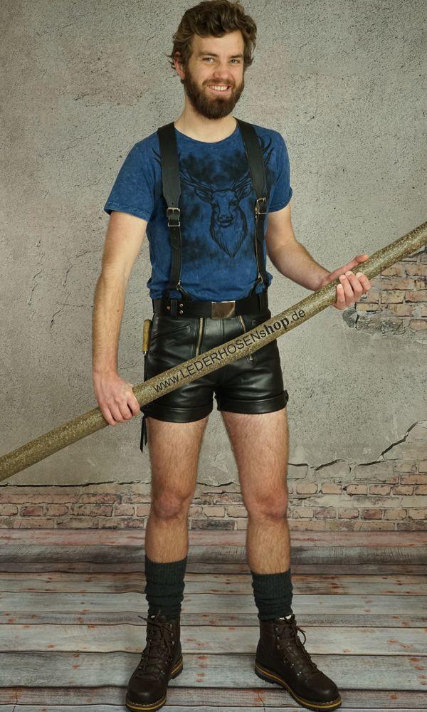 Das Modell Scout Spezial Plus ist eine kurze Lederhose