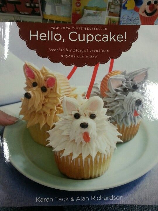Who wouldn't want to make a cupcake that looks like their dog?!?