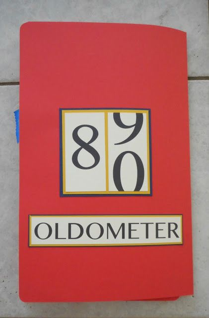 Dads 80th Birthday Oldometer Fun Card Handmade Card Humorous