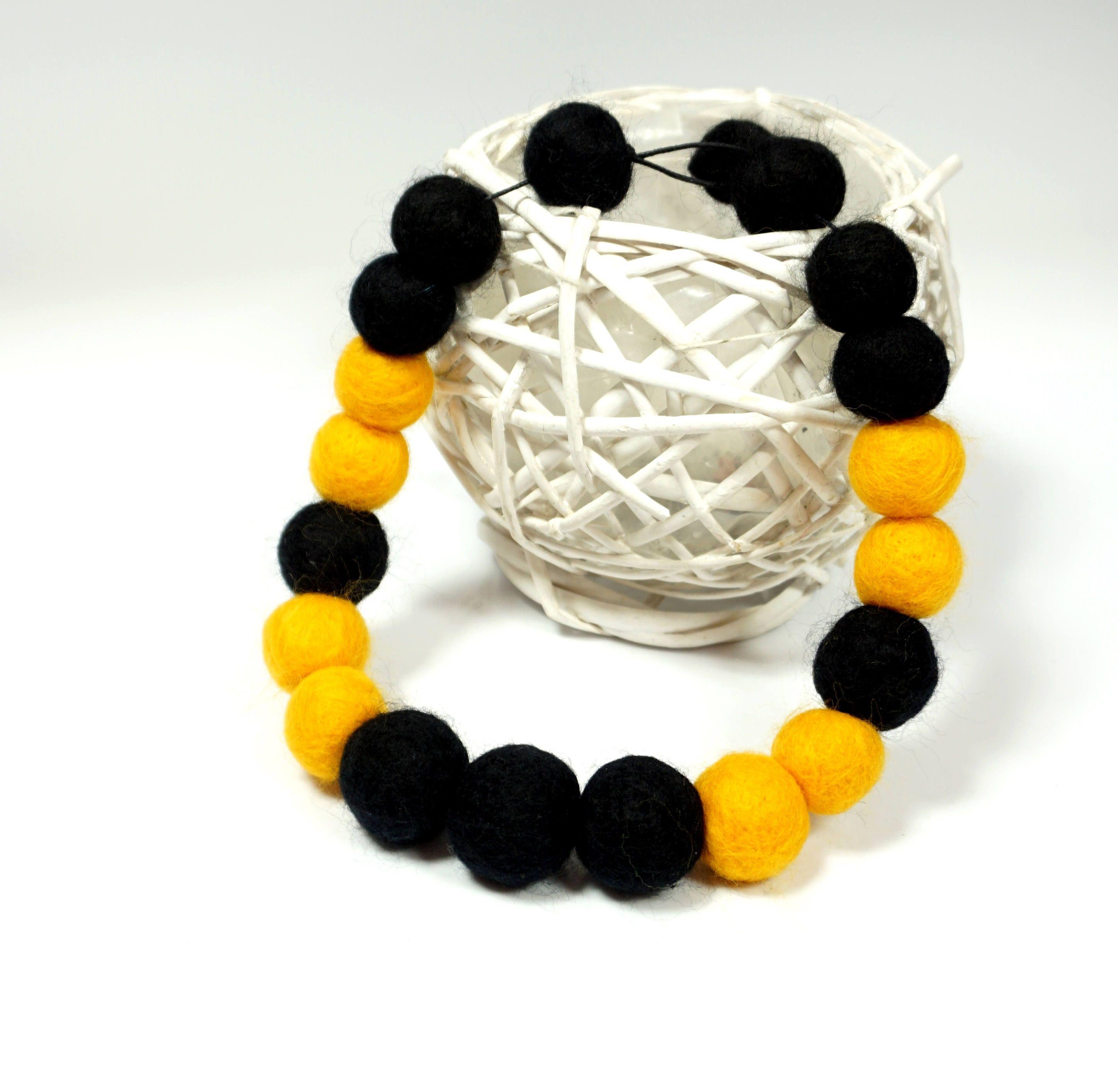 Felted necklace, Feltmondo, Felt necklace, Felt beads necklace, Wool necklace, by Feltmondo on Etsy