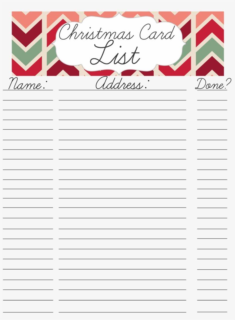 Printable Christmas Card Address List With Template Inside Christmas Card List Templa Christmas Cards Free Addressing Christmas Cards Printable Christmas Cards