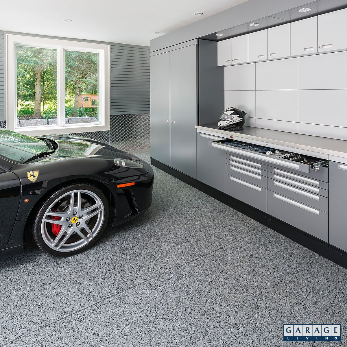 Slate Wall Panels Garage Man Cave Ideas Garage Storage: The Modern Design Of The GL NEOS Elite Hides All Visual
