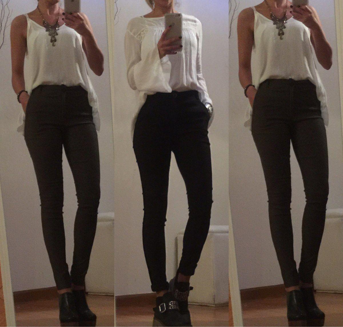 90346e0c05 (2) Pantalon Mujer Vestir Gabardina Elastizadoelstizado Chupin -   560