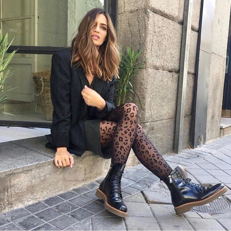 """21f10f8cbaba Calzedonia Official en Instagram: """"On trend: our leopard #tights as seen on  the beautiful @saracarbonero ! [Tights MODC1411] #calzedonia  #ItalianLegwear ..."""