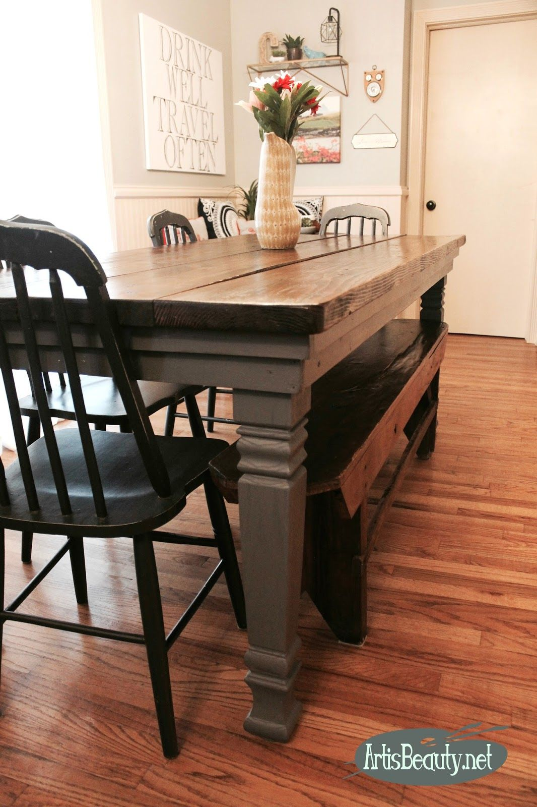 Diy Build Your Own Farmhouse Table Legs Makeover General Finishes Enchanting Design Your Own Dining Room Table Inspiration