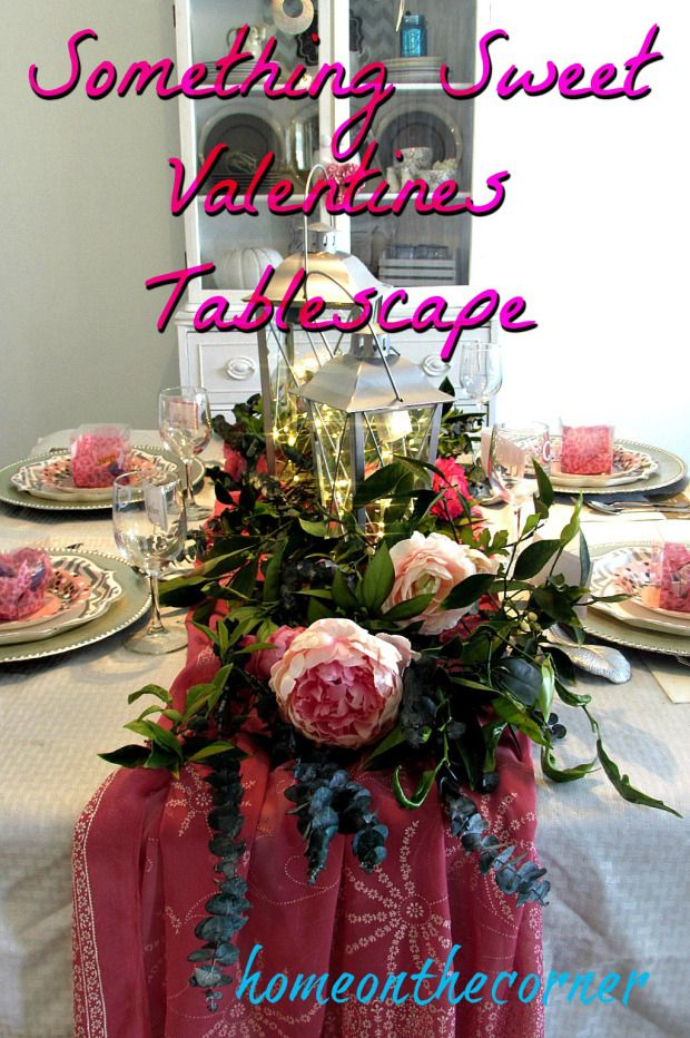 Something Sweet Valentines Tablescape | Home On The Corner - Highlighted at the Home Matters Linky Party 122