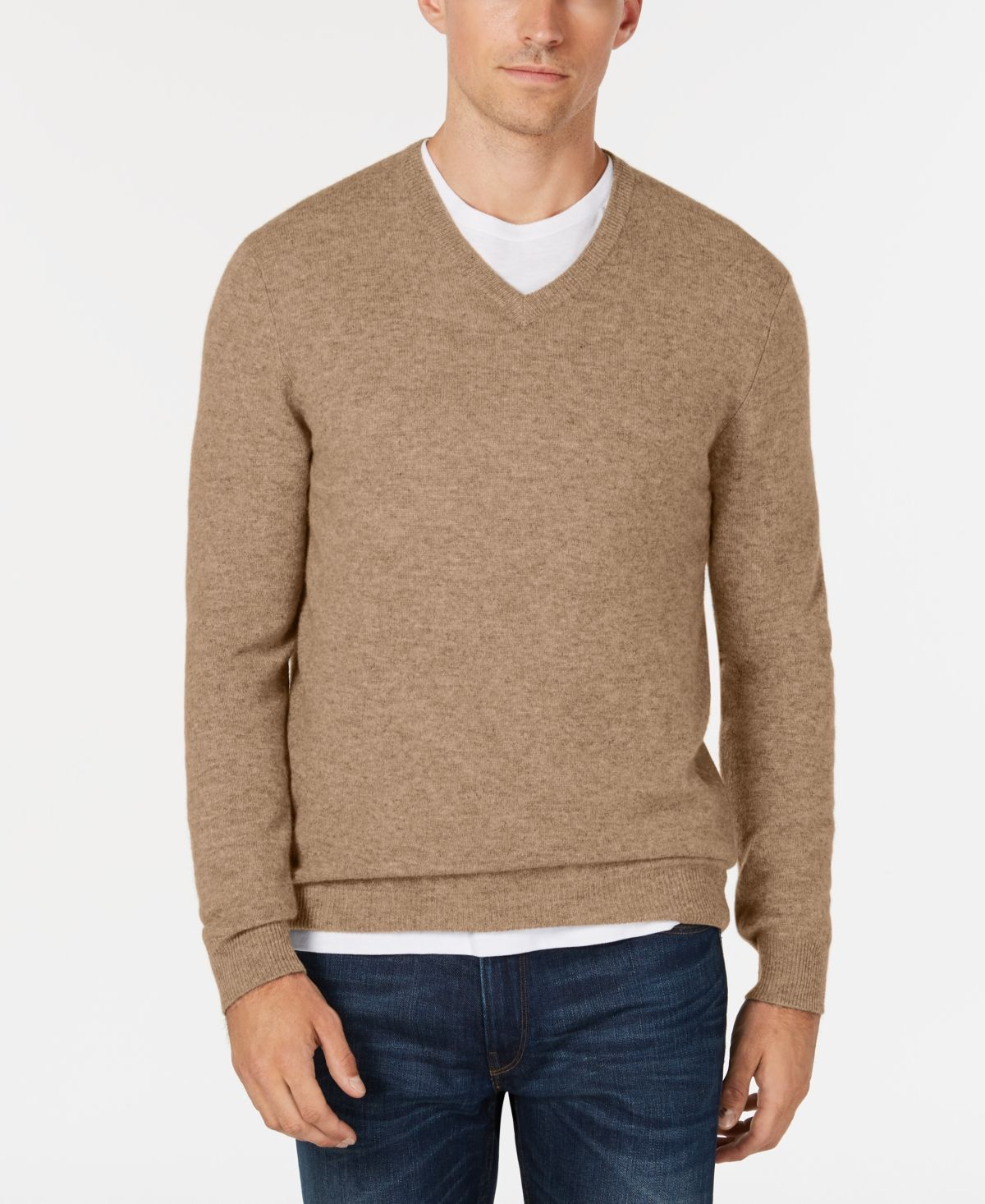 Club Room Men S V Neck Cashmere Sweater Created For Macy S Dark Natural Heather Men Sweater Cashmere Sweaters Club Room [ 1466 x 1200 Pixel ]