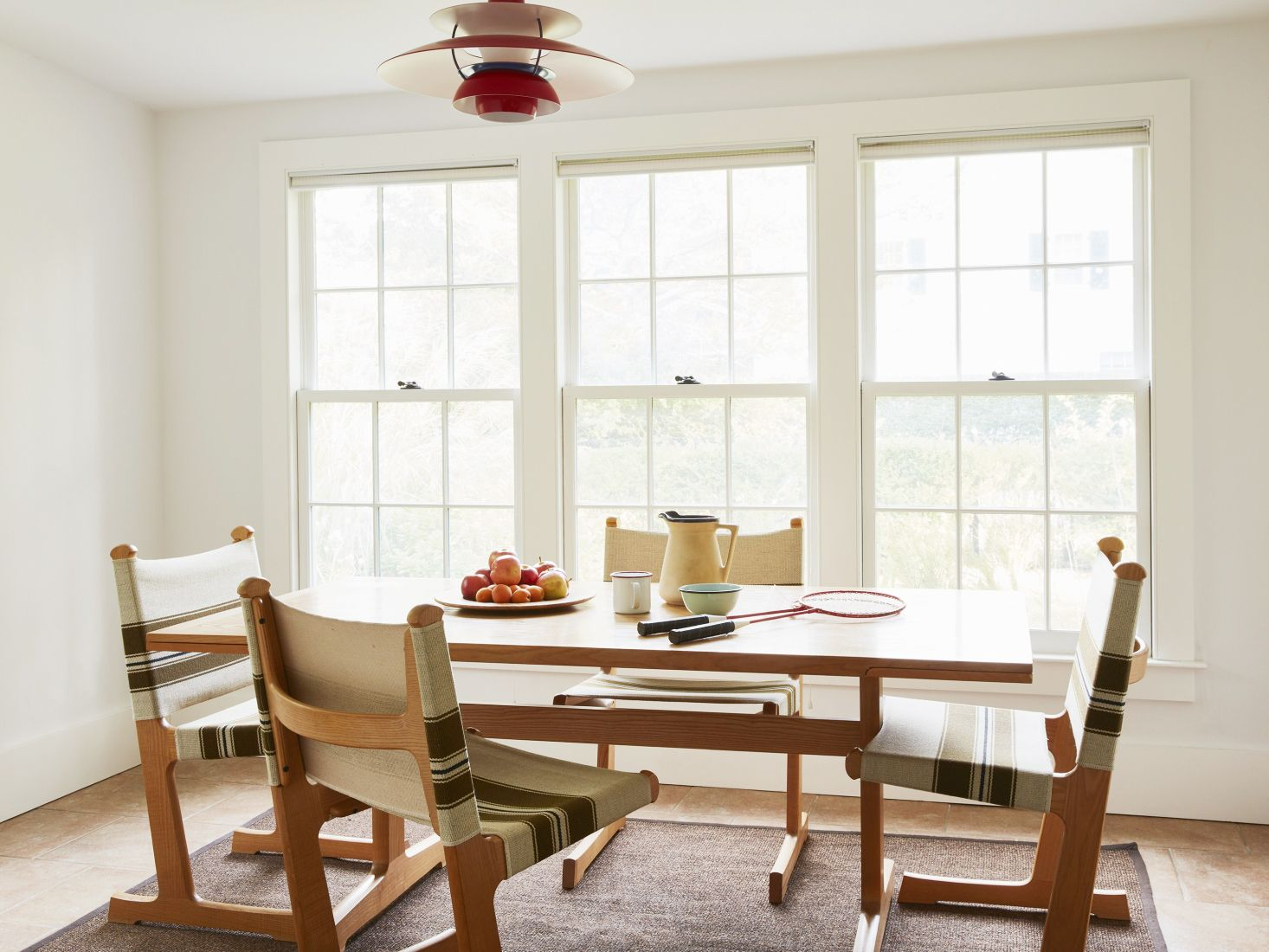 Mid-century modern shaker dining room. Ditte and Heath dining chairs.