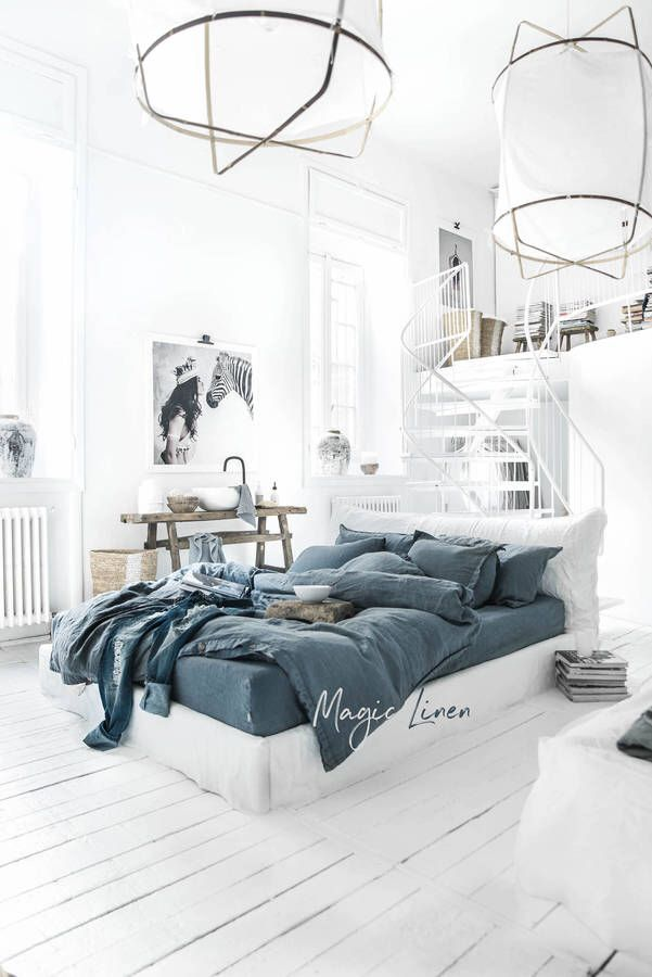 $111  Etsy Linen Duvet Coverstonewashed Grey Blue Colour Inspiration King And Queen Bedroom Decor Decorating Inspiration
