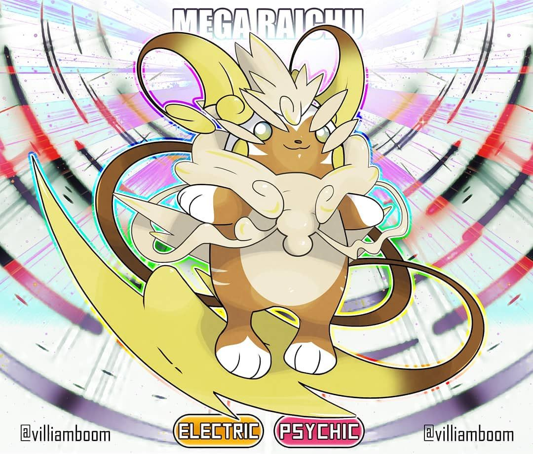 Pokemon Ausmalbilder Gewaldro : Mega Alolan Raichu By Villiam Boom Villiamboom Mega Pokemon