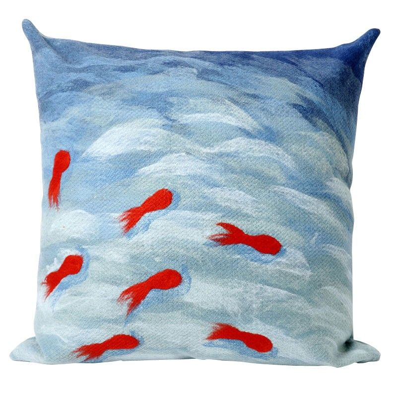 Goldfish Aqua Throw Pillow Got 40 Long Skinny Ones For Christmas Enchanting Long Skinny Decorative Pillows
