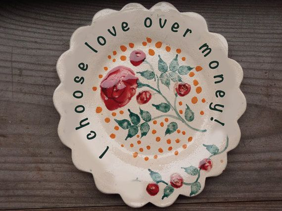 Personalized and hand painted decorative plate I by FoxRosalita & Personalized and hand painted decorative plate I by FoxRosalita ...
