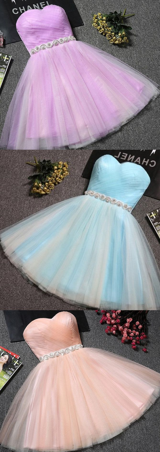 Sleeveless party prom dress short light blue party dresses with lace