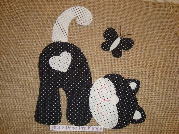 Resultado de imagen de patchwork sin aguja gato riscos plantillas ...