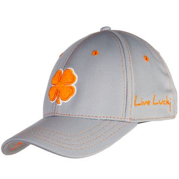 b5ab5e802b082 NRS - White and Orange Lucky Clover Baseball Hat  cap  lucky  orange ...