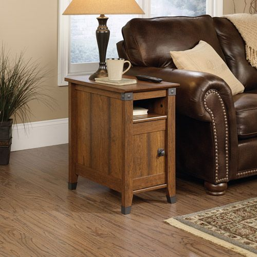 Sauder Carson Forge Side Table Washington Cherry Finish Walmart