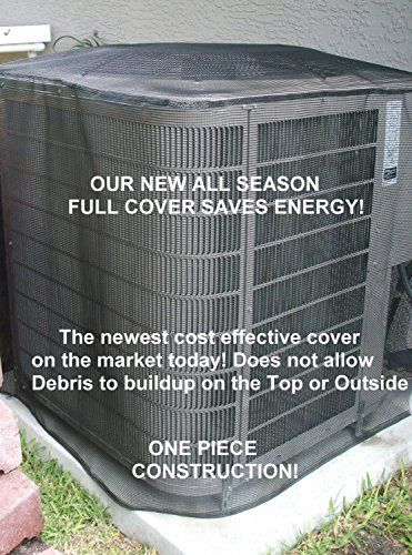 Summer Full Cover 24x24x24 Black Air Conditioner Cover Outdoor