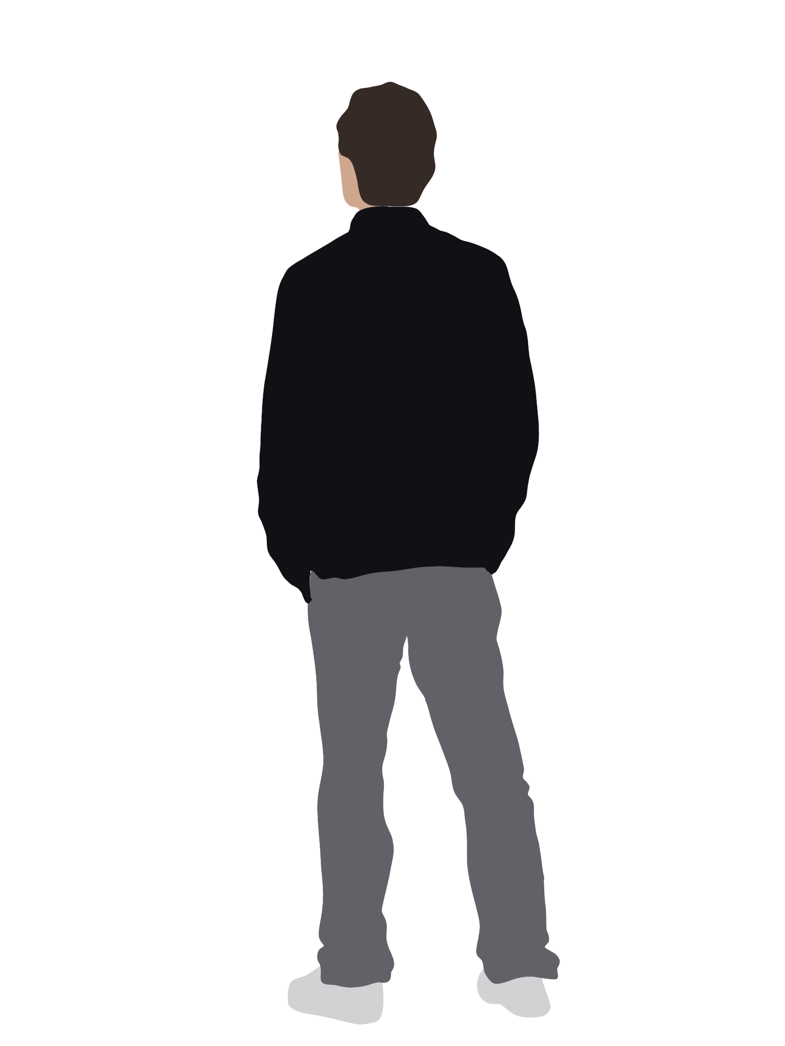 People Flat Illustration On Behance People Illustration Silhouette People Render People