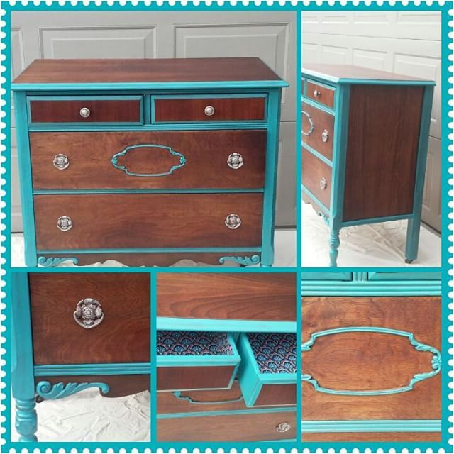 Love this reinvigorated dresser. Thrift store find. Walnut hiding under layers of shellac and varnish. Too date one of my favorite transformation s. #AardvarkFurniture #foundandforaged #walnutdresser #Paintedfurniture #asfoundincolumbus #asseenincolumbus #614