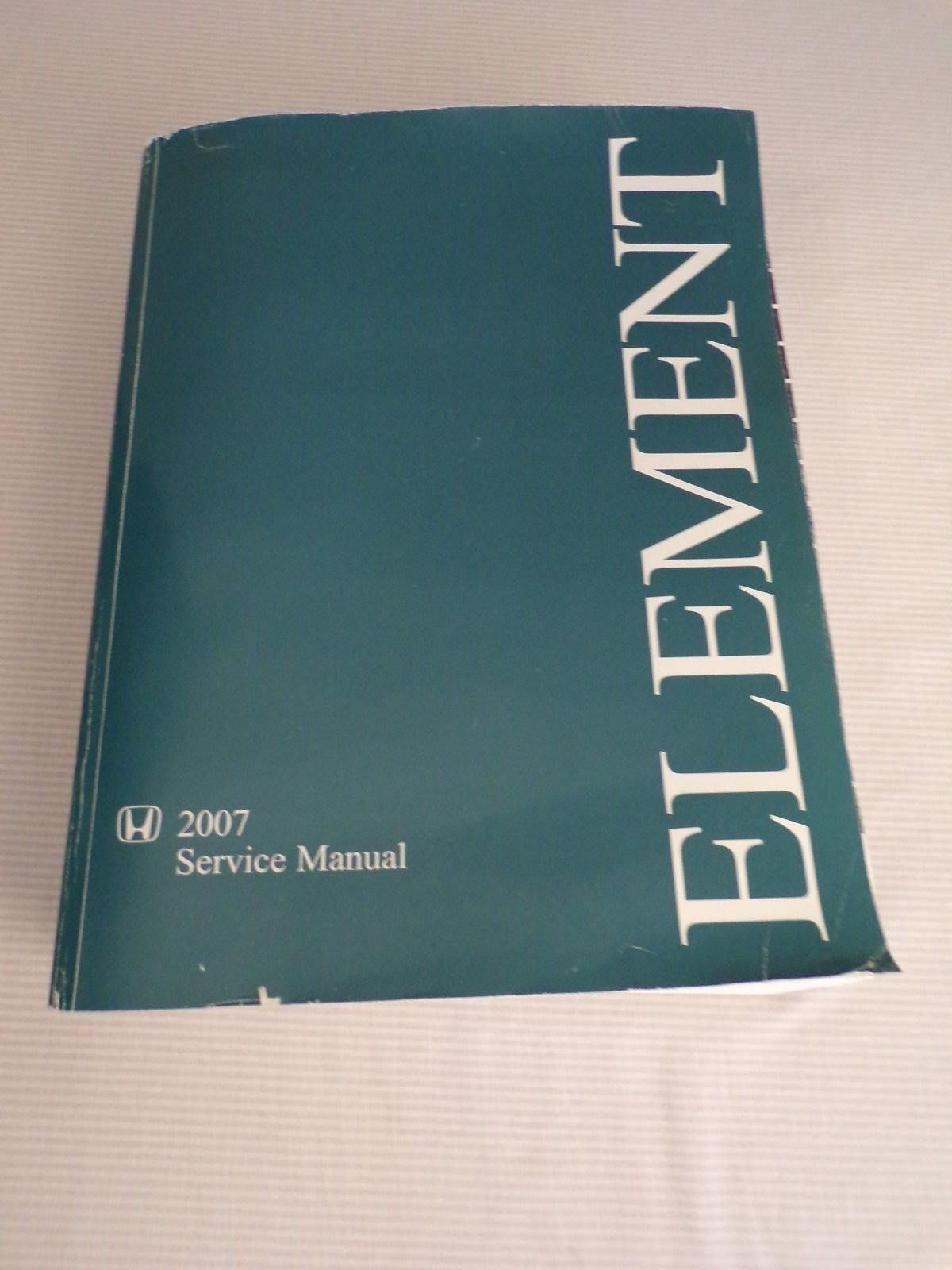 2007 honda element service manual paperback