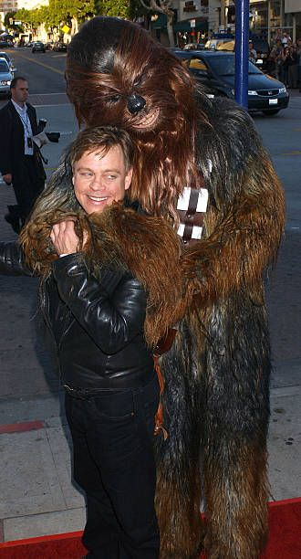Mark Hamill and Chewbacca during u0027Star Wars Episode III Revenge of The Sithu0027 Premiere to Benefit Artists for a New South Africa Charity Arrivals at.  sc 1 st  Pinterest & Mark Hamill and Chewbacca during u0027Star Wars Episode III Revenge of ...