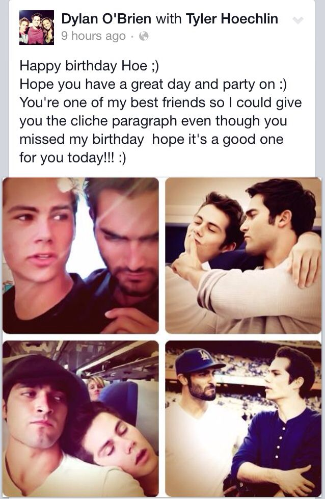 Dylan wishes Tyler a happy birthday!