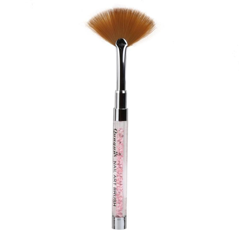 Beauty Girl Nail Art Fan Pen Brush Nail Tools Gel Pen Brush Acrylic ...