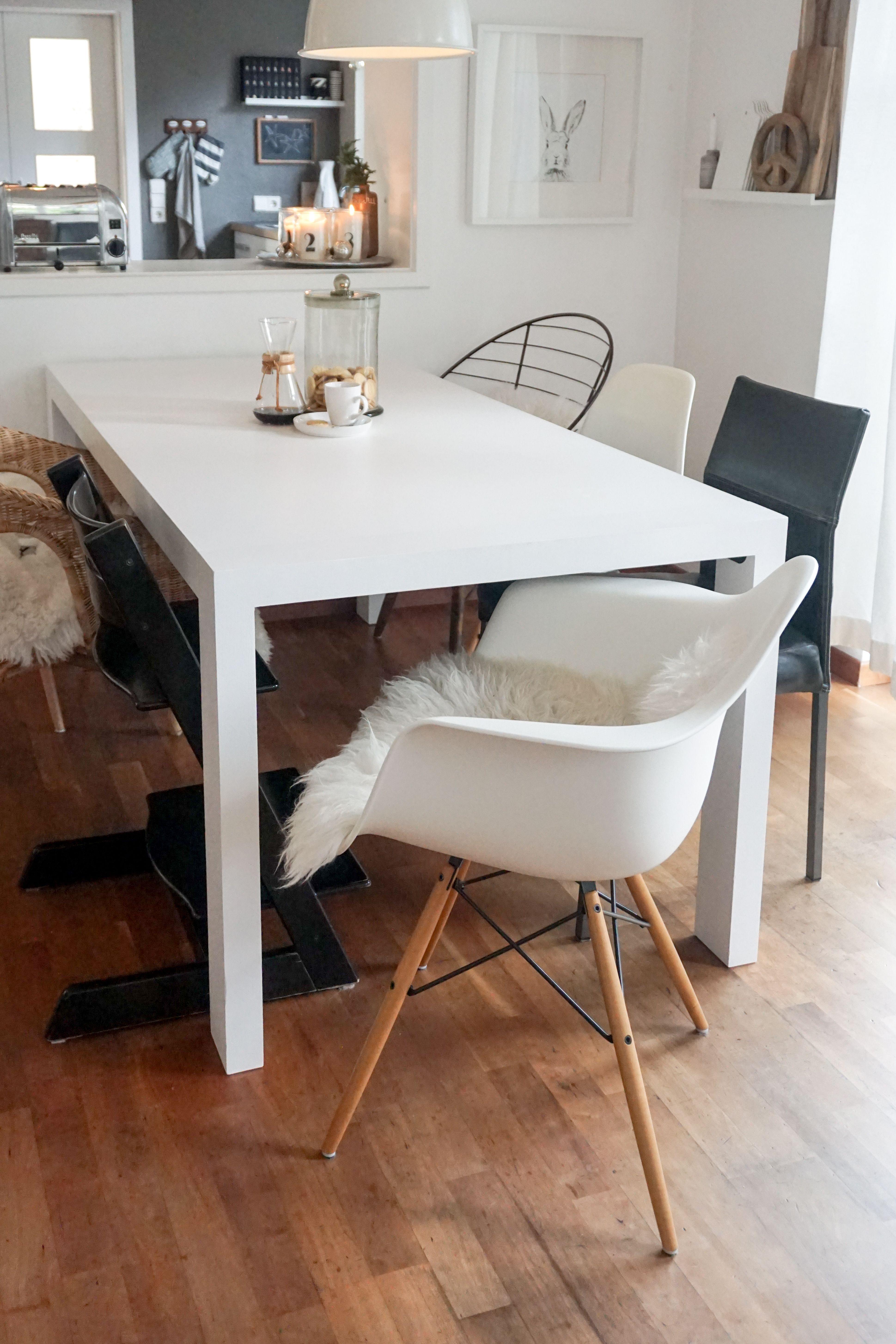 Vitra Eames Plastic Armchair DAW Ahorn Gelblich Weiß