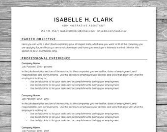 Professional Reference Sheet Template Amusing Professional Minimalist Resume Template Cv Template Printable .