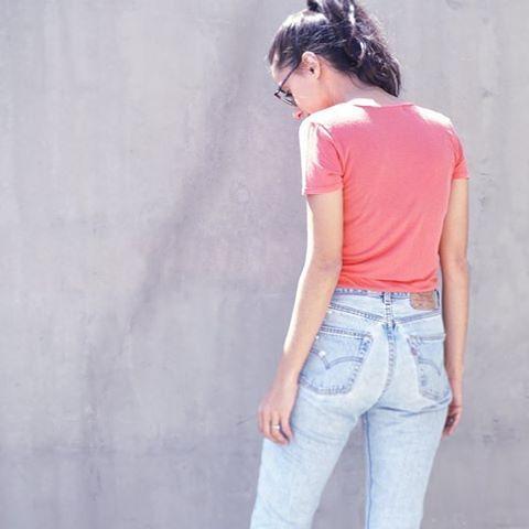WEBSTA @ projectsocialt - Keep it Easy. The Jamie Tee.#projectsocialt #madeinla #spring #basics #minimalist #wall #momjeans #easy #solids #boutique #ootd