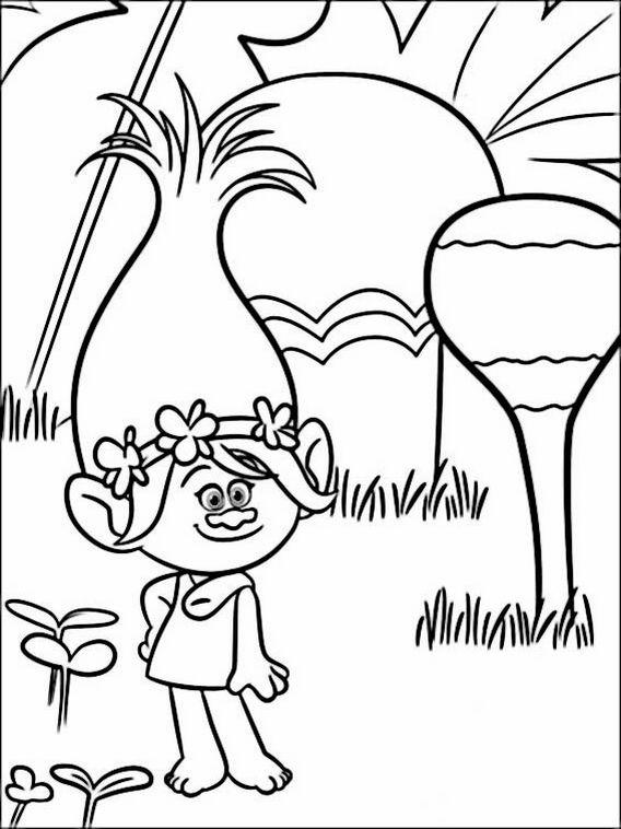 Malarbilder Farglaggningsbilder Trolls 2 Coloring Books