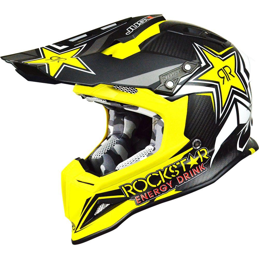Just1 J12 Rockstar 2 0 Carbon Helmet Helmet Bike Helmet Racing Gear