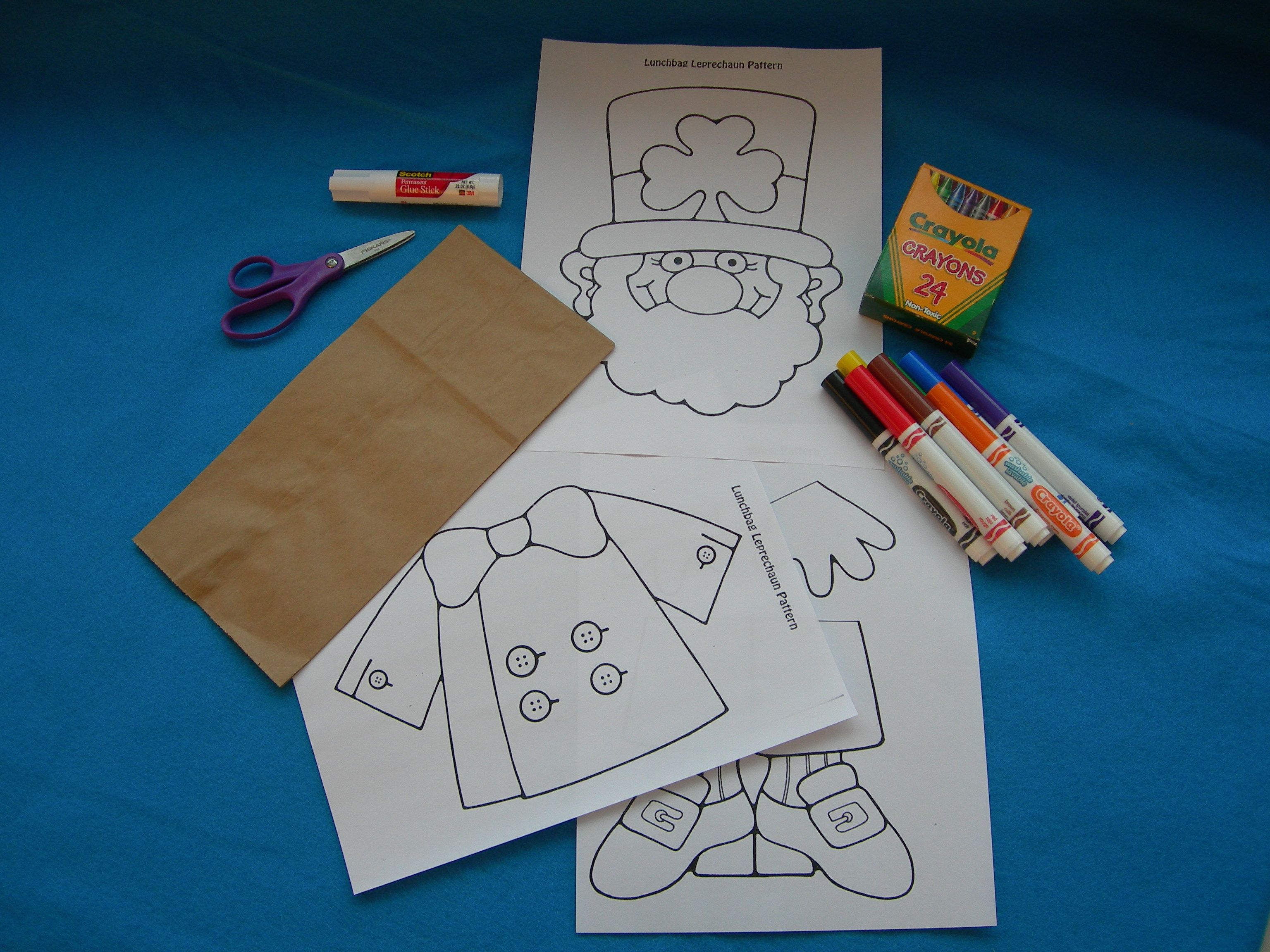 Lunch Bag Leprechaun Printable