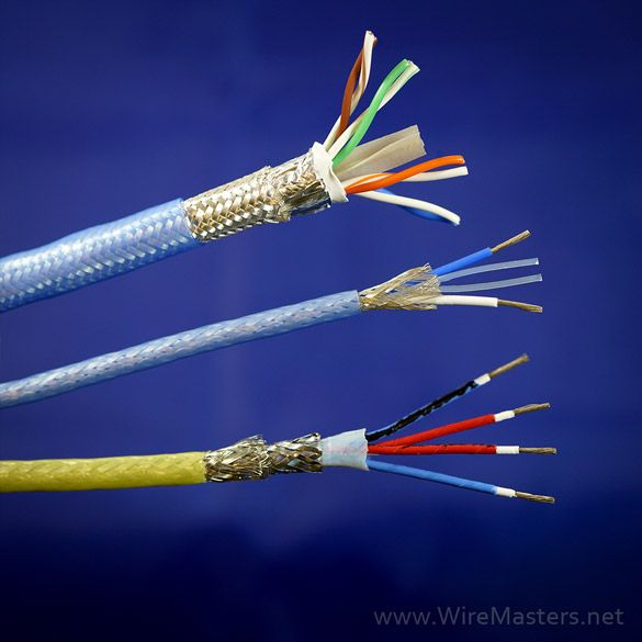 Aerospace data cables from simple twisted, shielded pairs, full ...